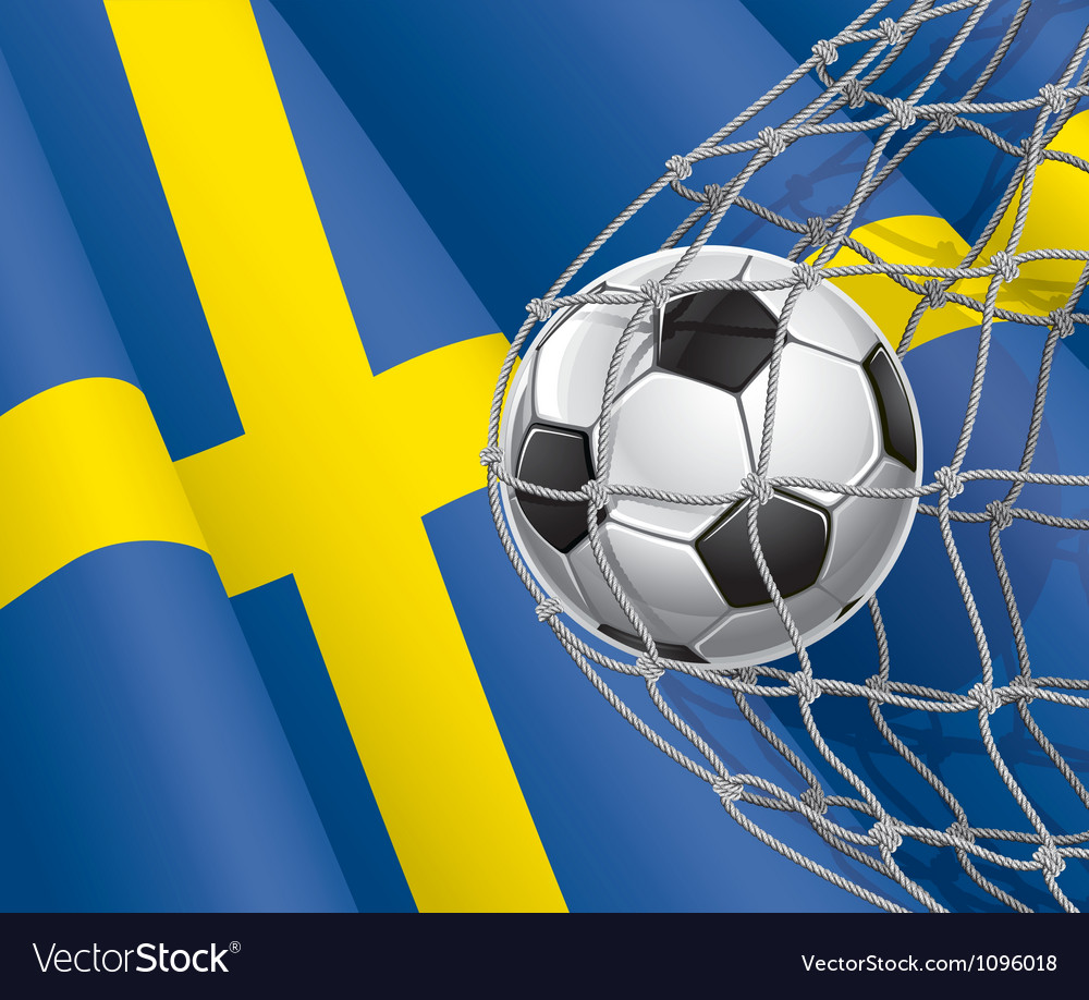 Soccer goal and sweden flag vector | Price: 1 Credit (USD $1)
