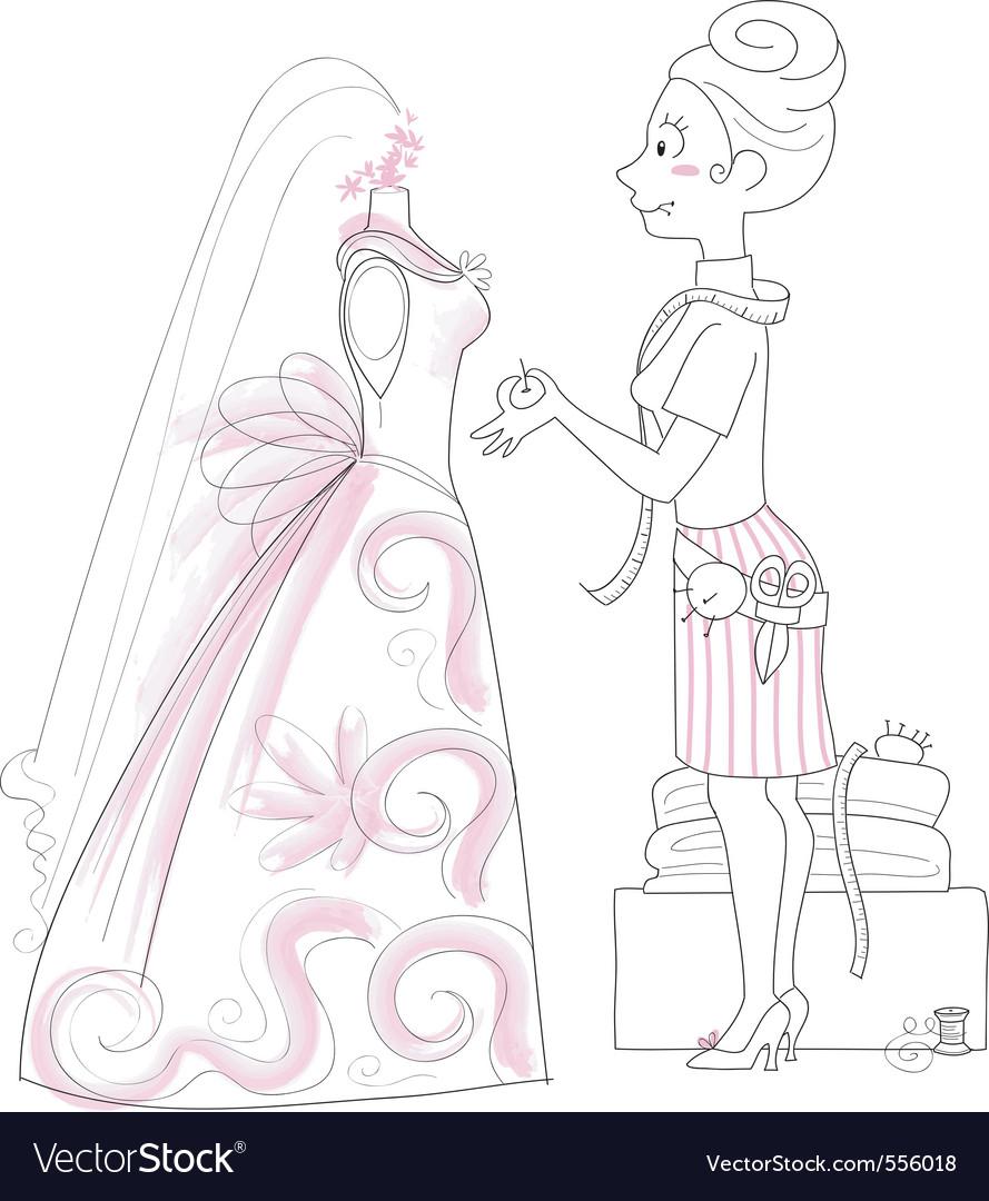 Wedding dressmaker vector   Price: 1 Credit (USD $1)