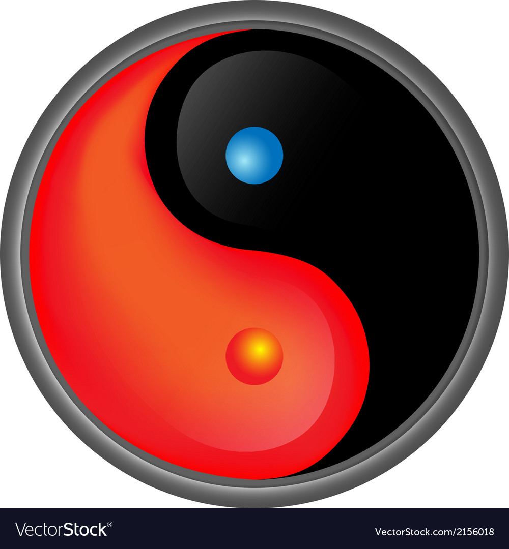 Yin yang hot and cold vector | Price: 1 Credit (USD $1)