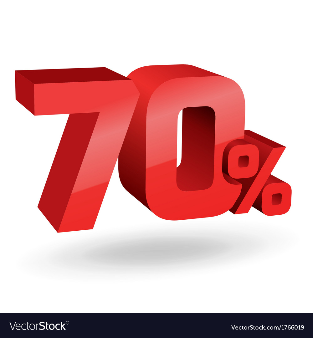 70 percent digits vector | Price: 1 Credit (USD $1)