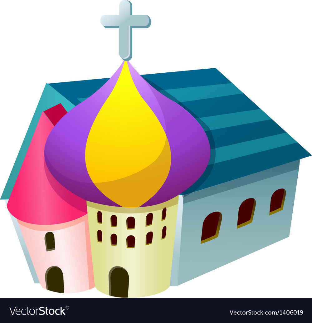 A church stand on vector | Price: 1 Credit (USD $1)