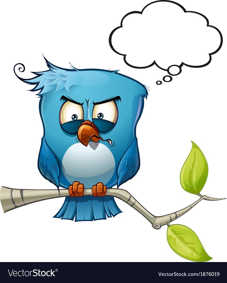 Blue bird wrathful vector | Price: 3 Credit (USD $3)