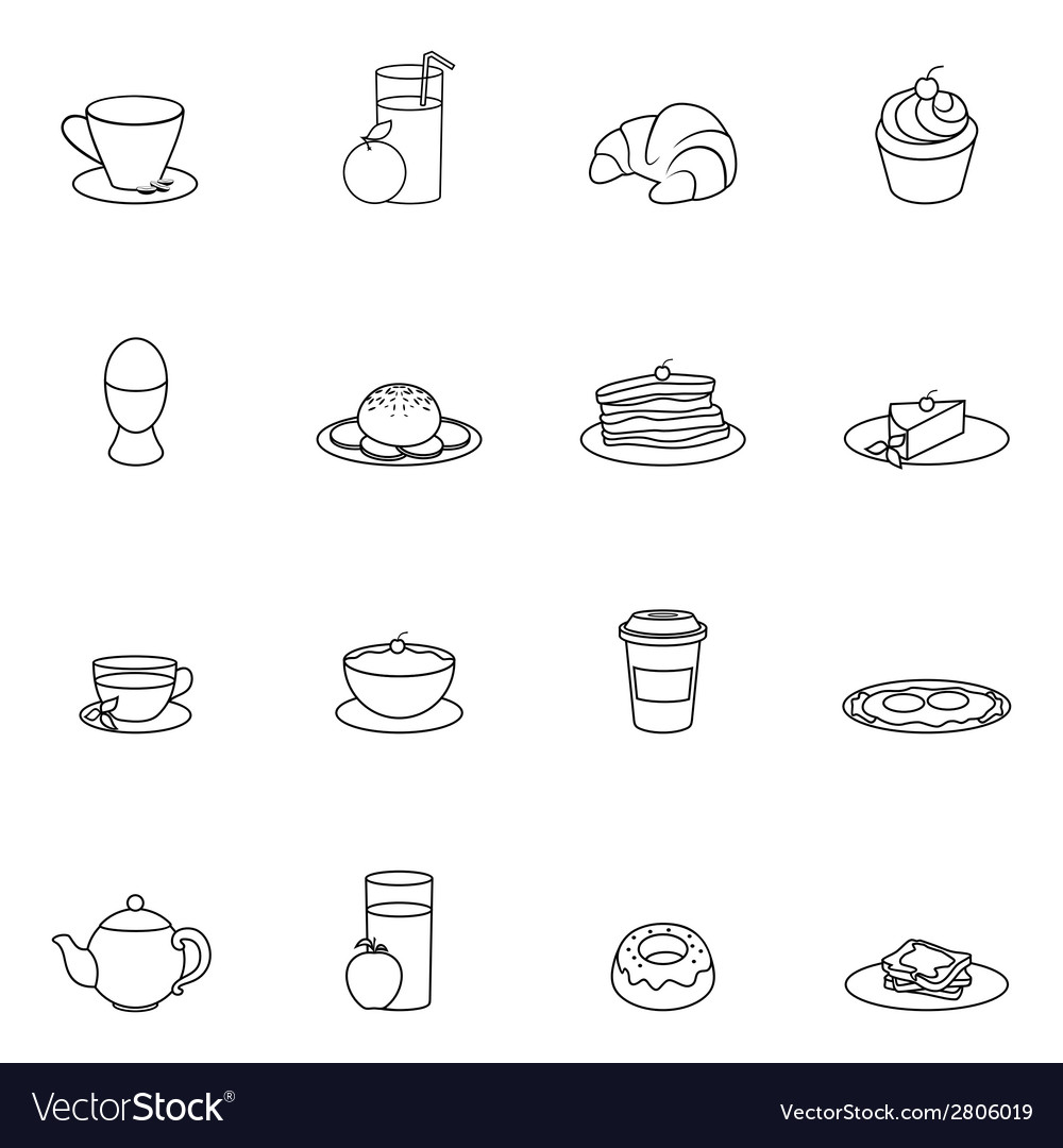 Breakfast icon outline vector | Price: 1 Credit (USD $1)