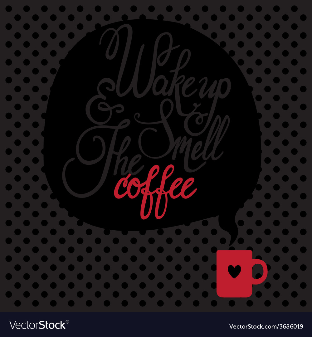 Card with coffee lettering i love coffee vector | Price: 1 Credit (USD $1)