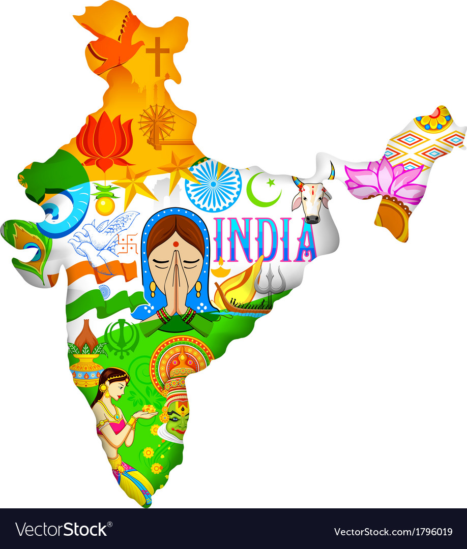 Culture of india vector | Price: 1 Credit (USD $1)