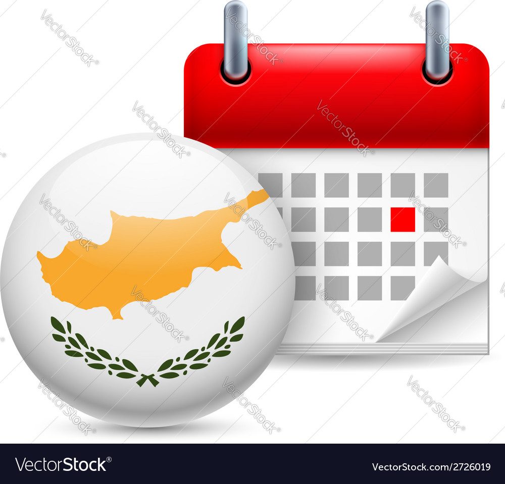 Icon of national day in cyprus vector | Price: 1 Credit (USD $1)