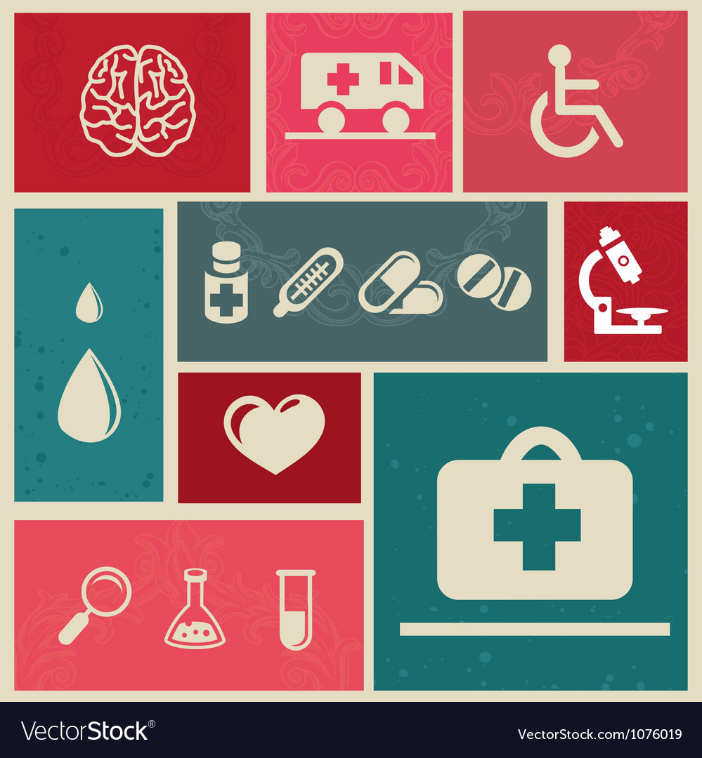 Medical icons and sign vector | Price: 1 Credit (USD $1)