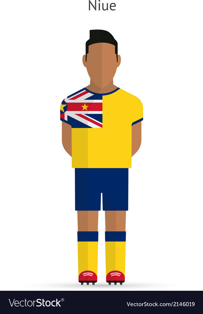 Niue football player soccer uniform vector | Price: 1 Credit (USD $1)