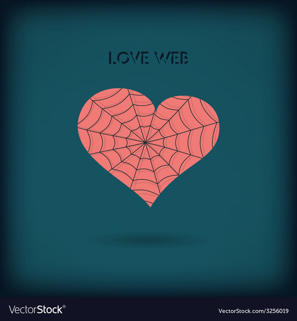 Red heart icon on dark background love web concept vector | Price: 1 Credit (USD $1)