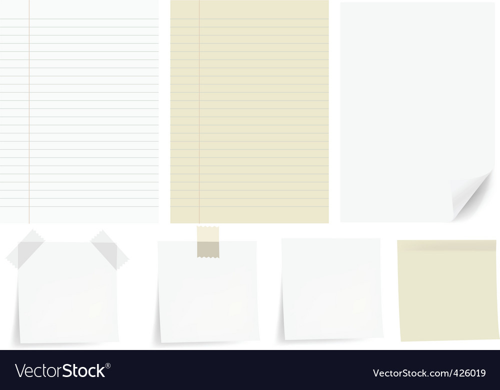 Set papers vector | Price: 1 Credit (USD $1)