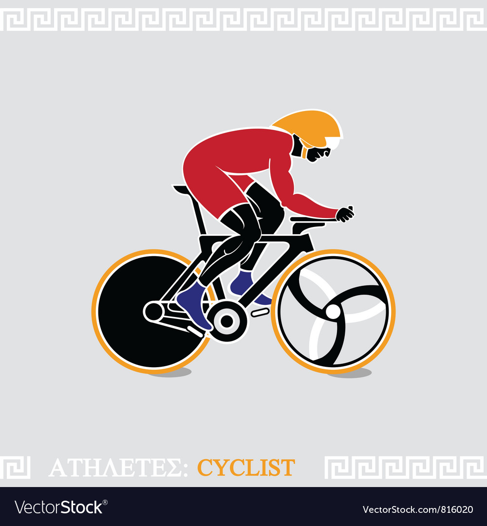 Athlete cyclist vector | Price: 1 Credit (USD $1)