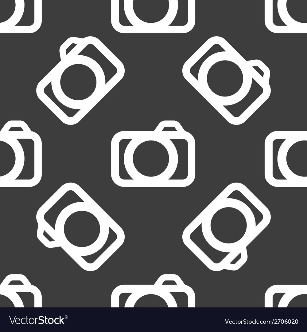 Camera web icon flat design seamless pattern vector | Price: 1 Credit (USD $1)