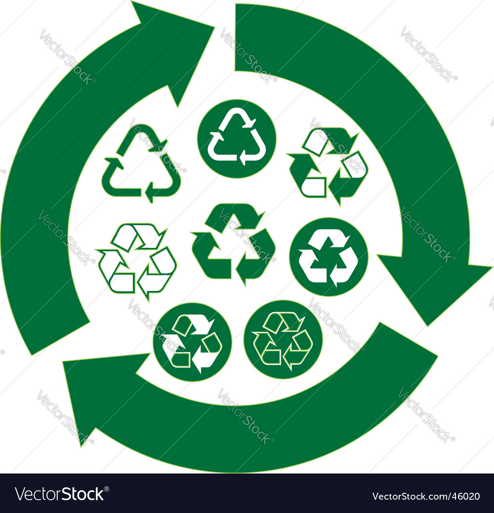 Recycle icons vector | Price:  Credit (USD $)