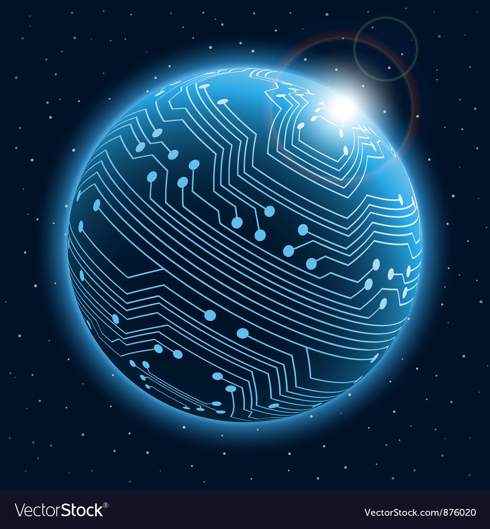 Technology planet vector | Price: 1 Credit (USD $1)