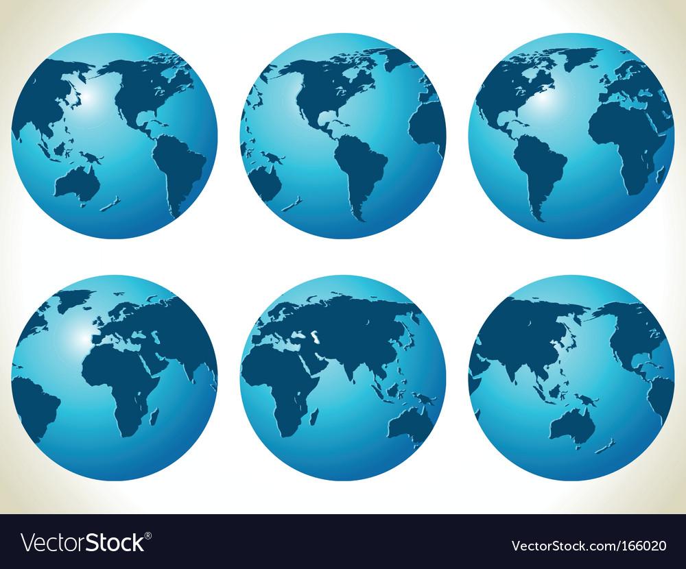 World maps vector | Price: 1 Credit (USD $1)