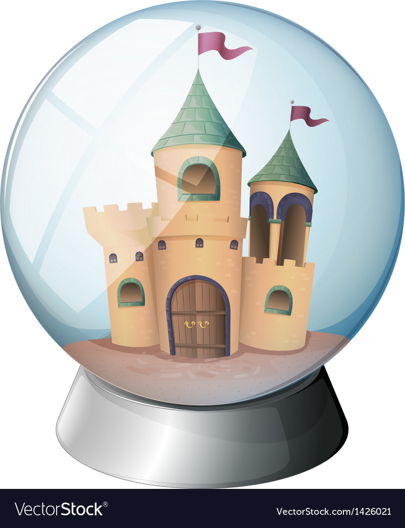A castle inside a glass dome vector | Price: 1 Credit (USD $1)