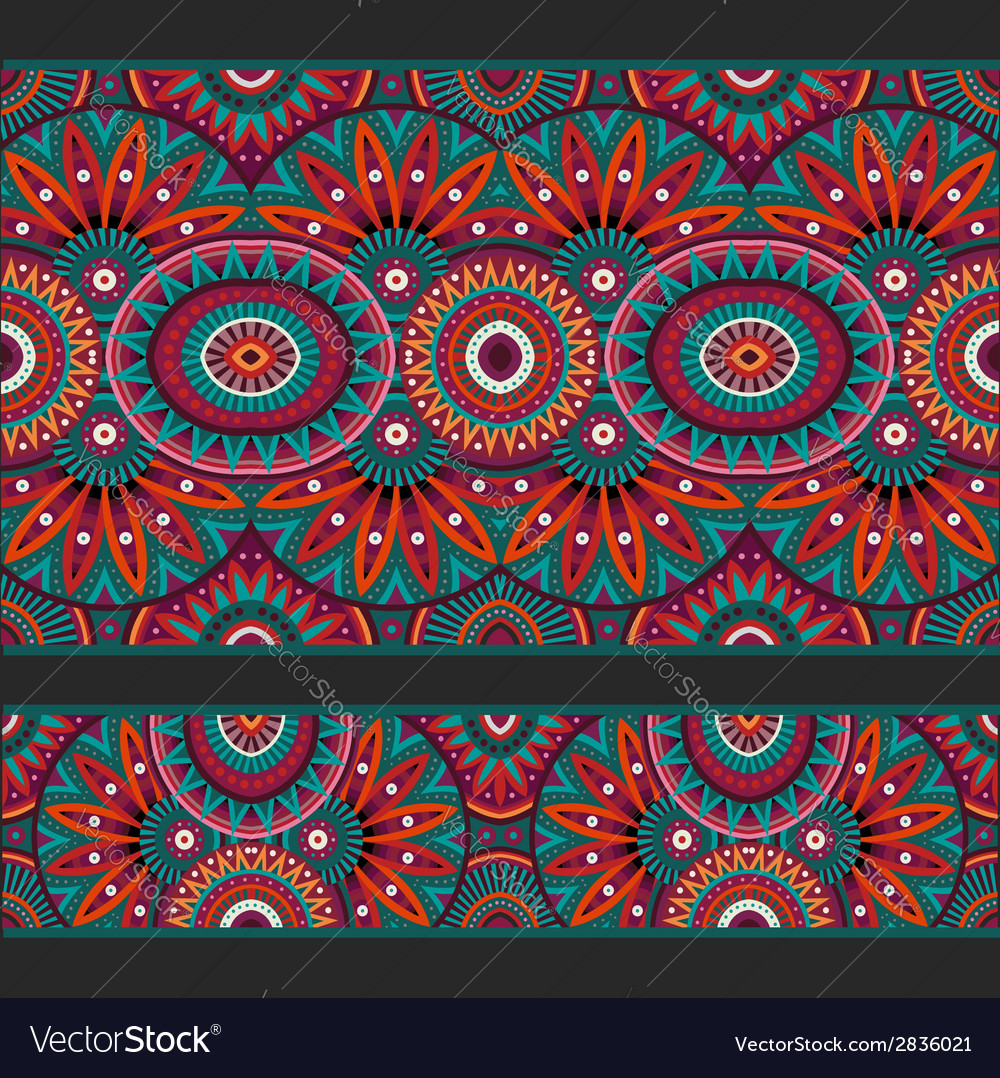 Abstract ornamental ethnic seamless stripes vector | Price: 1 Credit (USD $1)