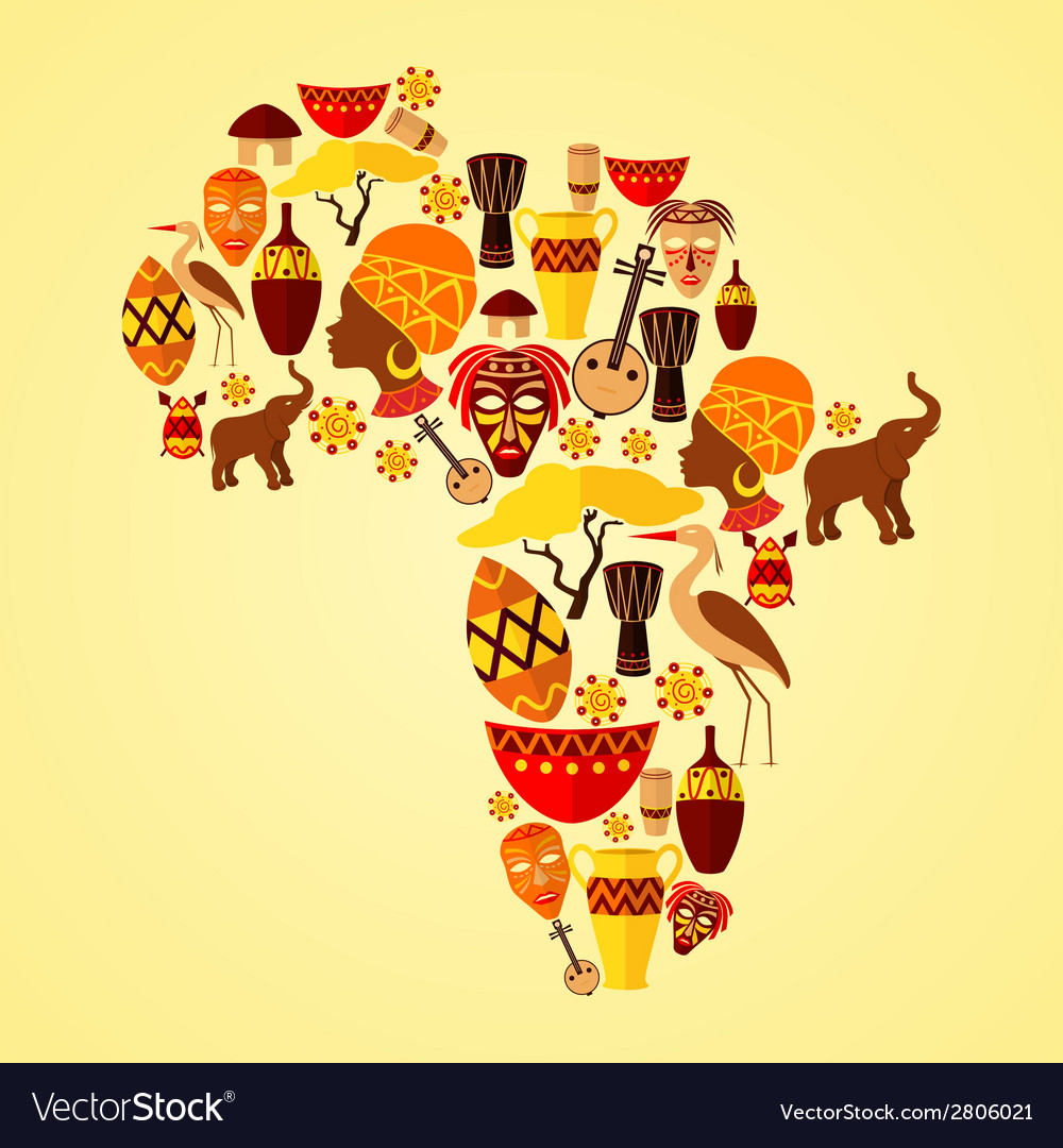 Africa seamless pattern vector | Price: 1 Credit (USD $1)