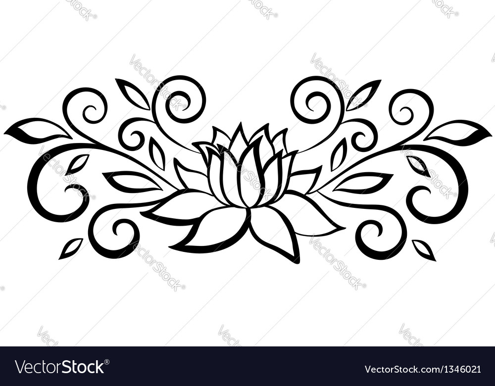 Black and white abstract flower vector | Price: 1 Credit (USD $1)