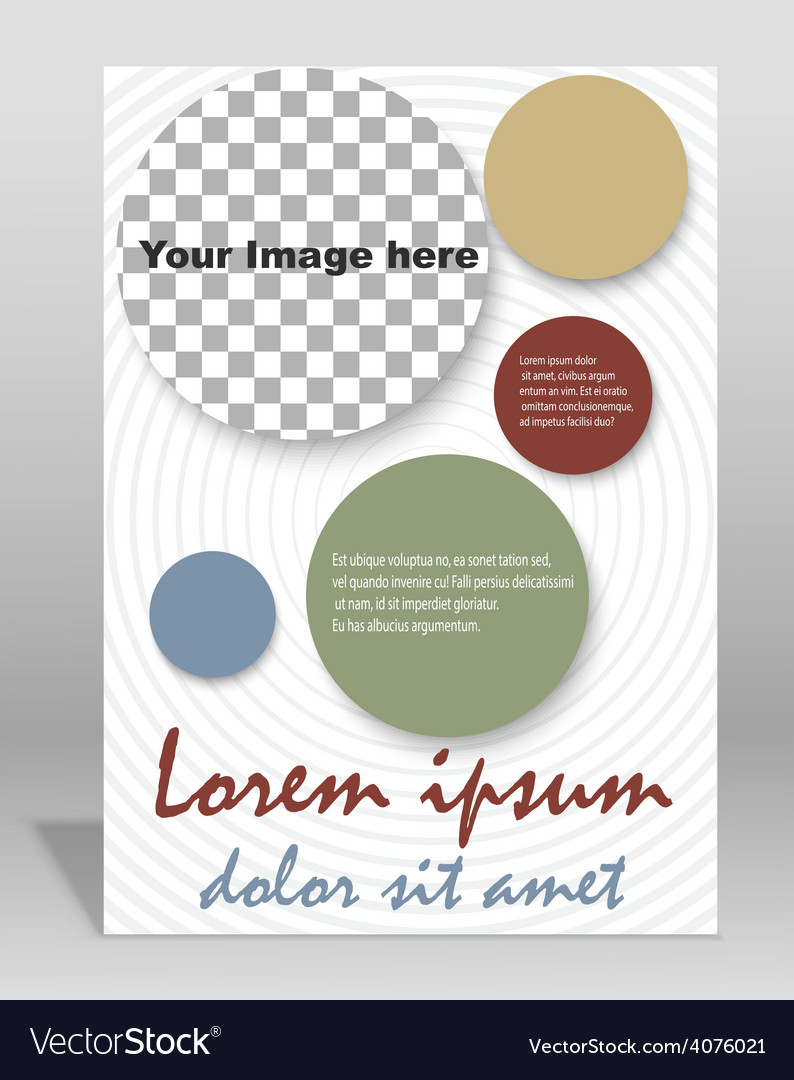 Brochure or magazine cover template vector | Price: 1 Credit (USD $1)