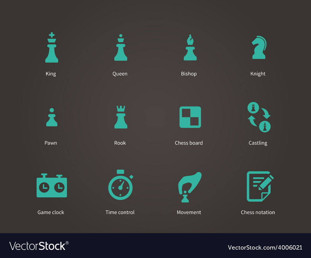 Chess pieces icons vector | Price: 1 Credit (USD $1)