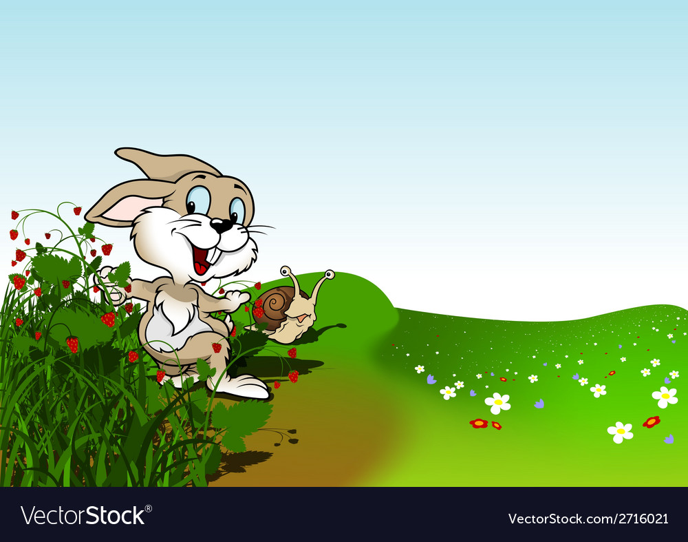 Happy rabbit vector | Price: 1 Credit (USD $1)