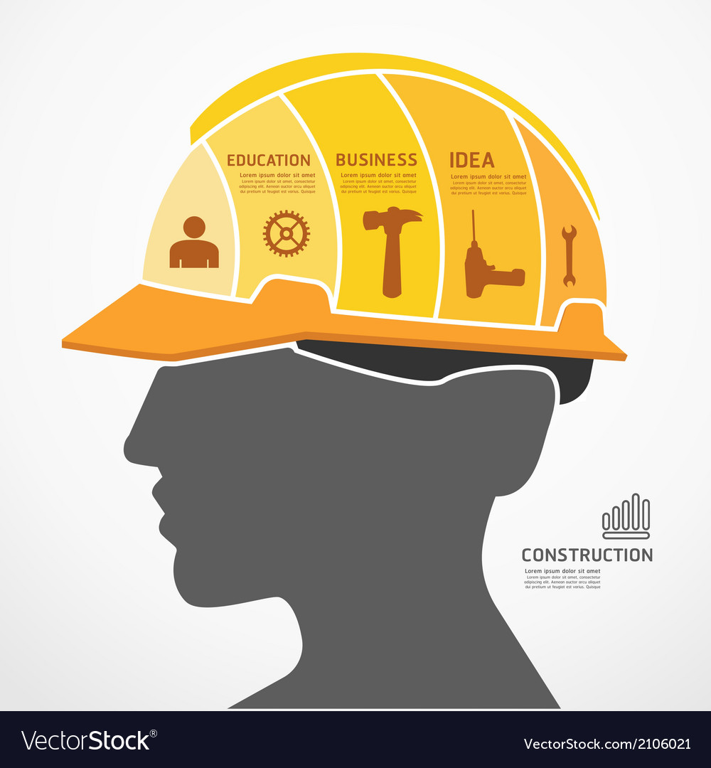 Infographic template with construction concept vector | Price: 1 Credit (USD $1)