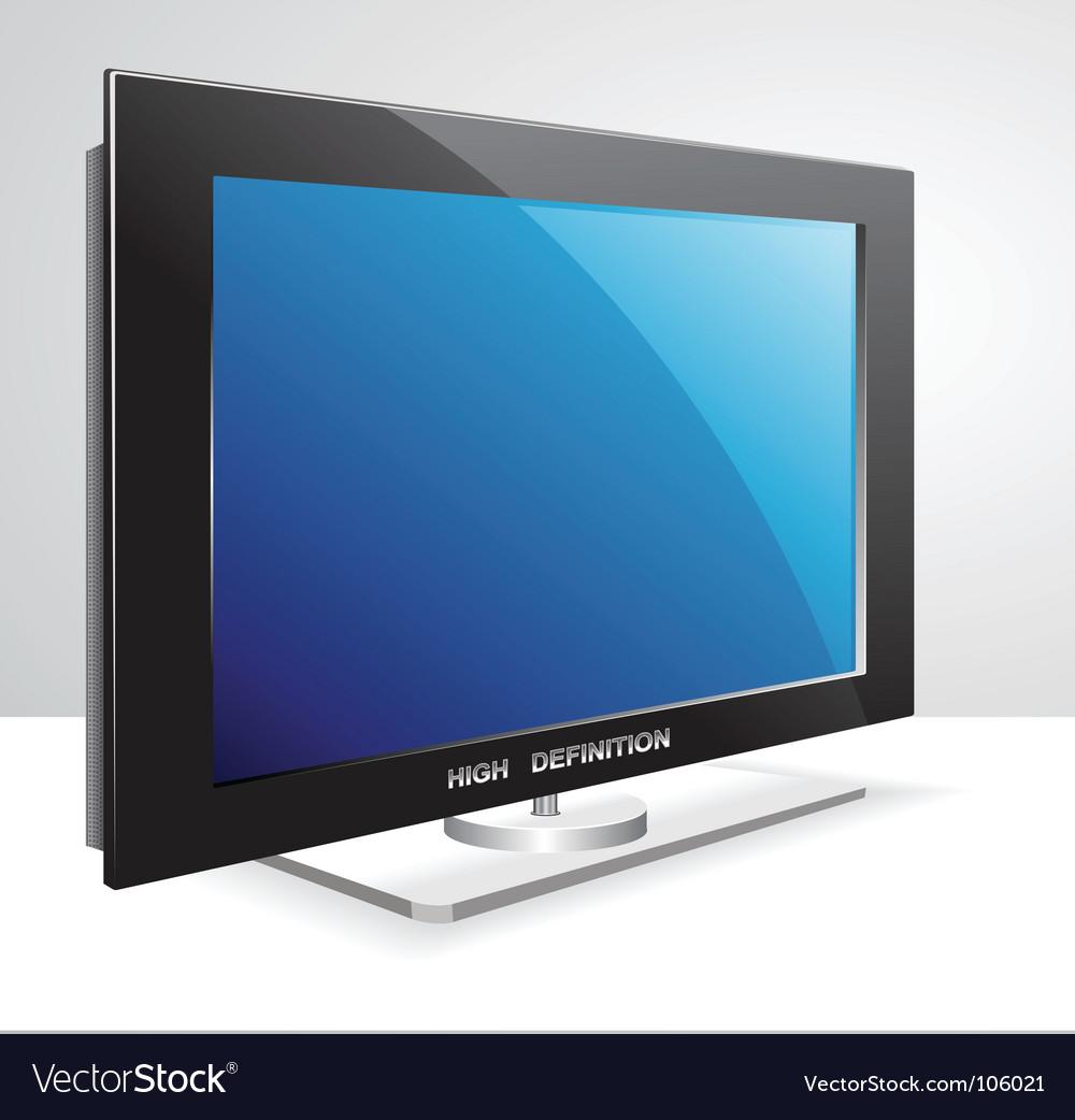 Lcd tv set vector | Price: 1 Credit (USD $1)