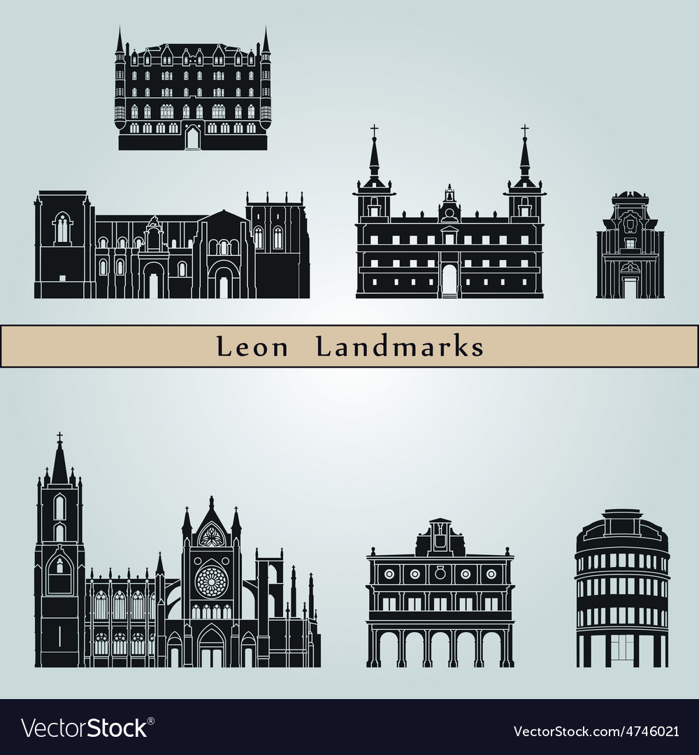Leon landmarks and monuments vector | Price: 1 Credit (USD $1)