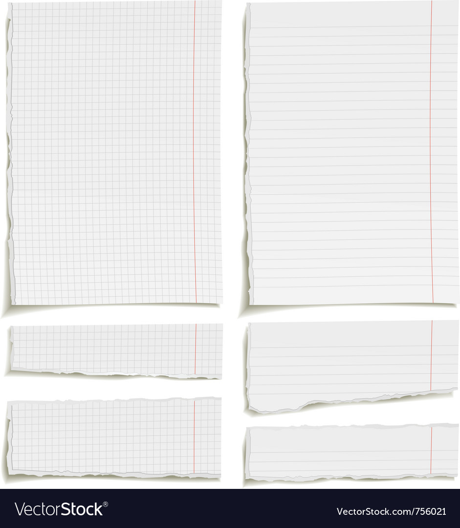Ragged sheets of paper vector | Price: 1 Credit (USD $1)