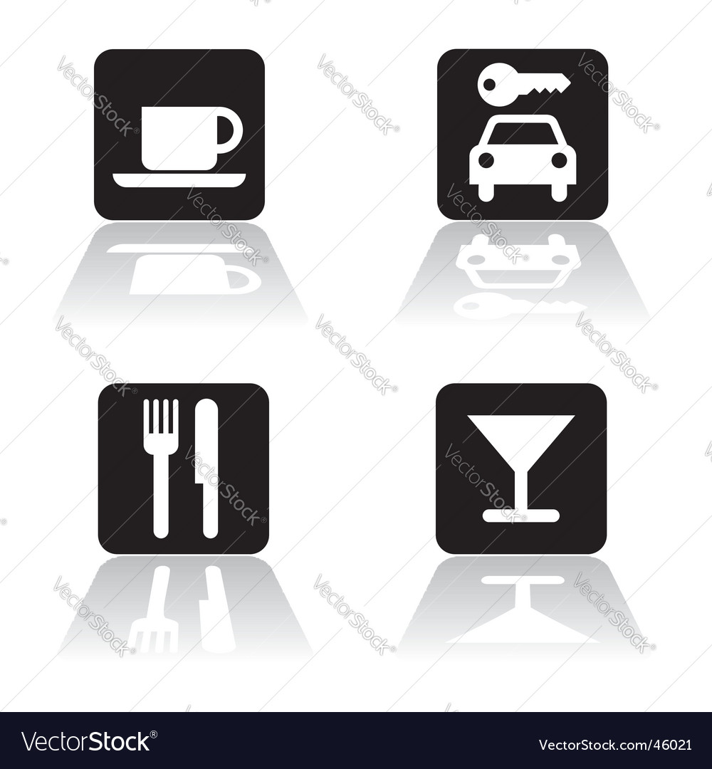 Restaurant icons vector | Price:  Credit (USD $)
