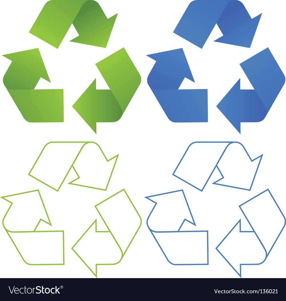 Set of recycling symbols vector | Price: 1 Credit (USD $1)