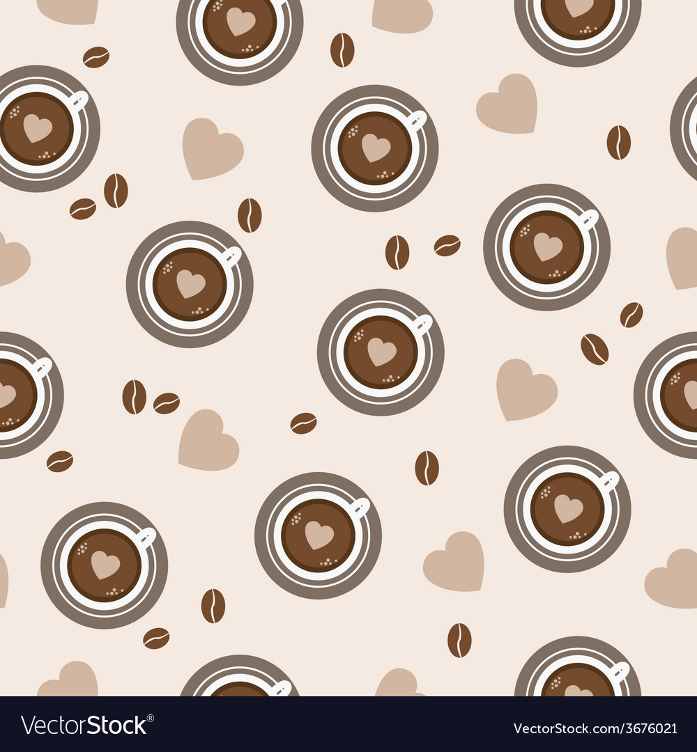 Sweet background seamless pattern with coffee vector | Price: 1 Credit (USD $1)