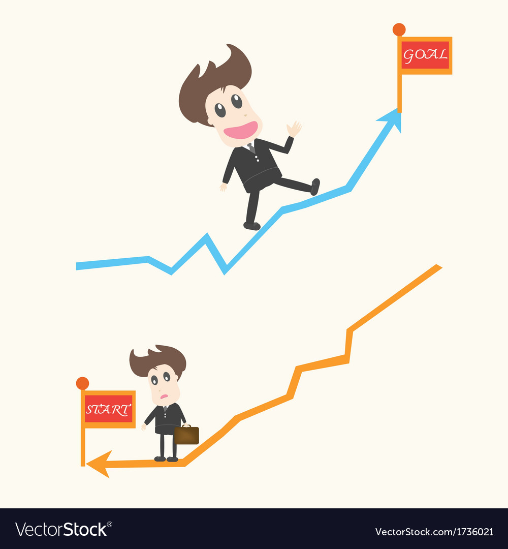 Up and down business man vector | Price: 1 Credit (USD $1)