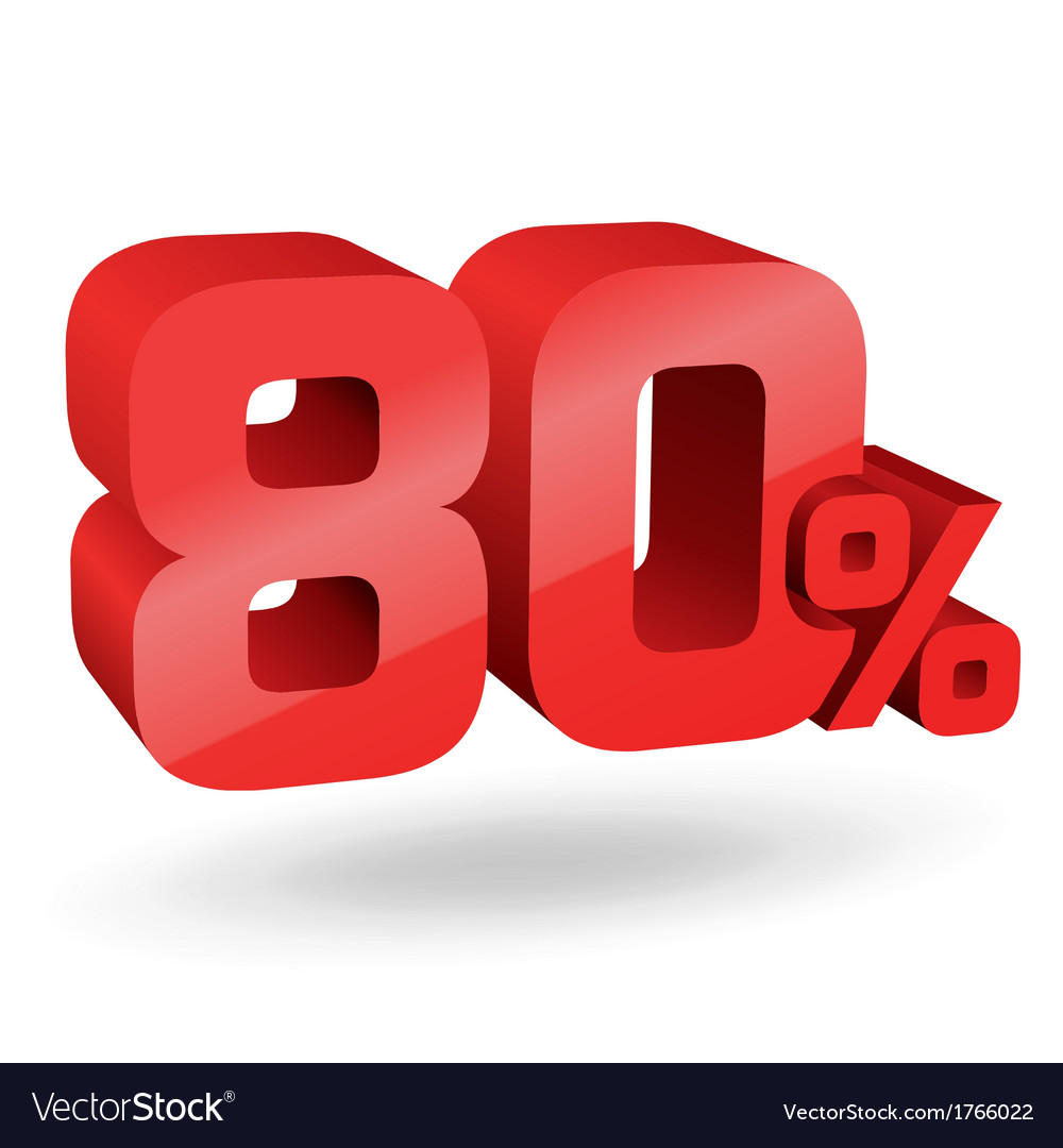 80 percent digits vector | Price: 1 Credit (USD $1)
