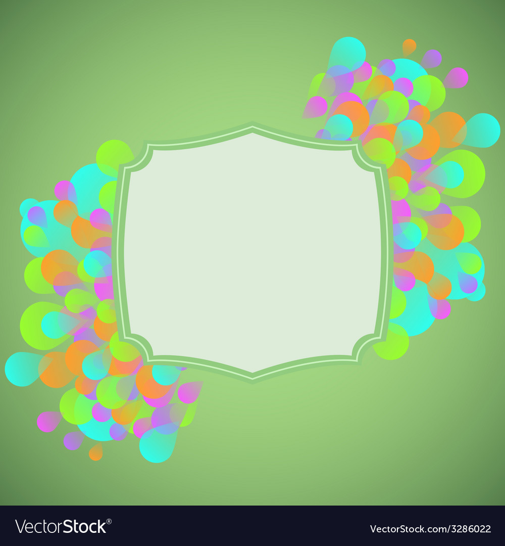 Celebration concept on green background vector | Price: 1 Credit (USD $1)