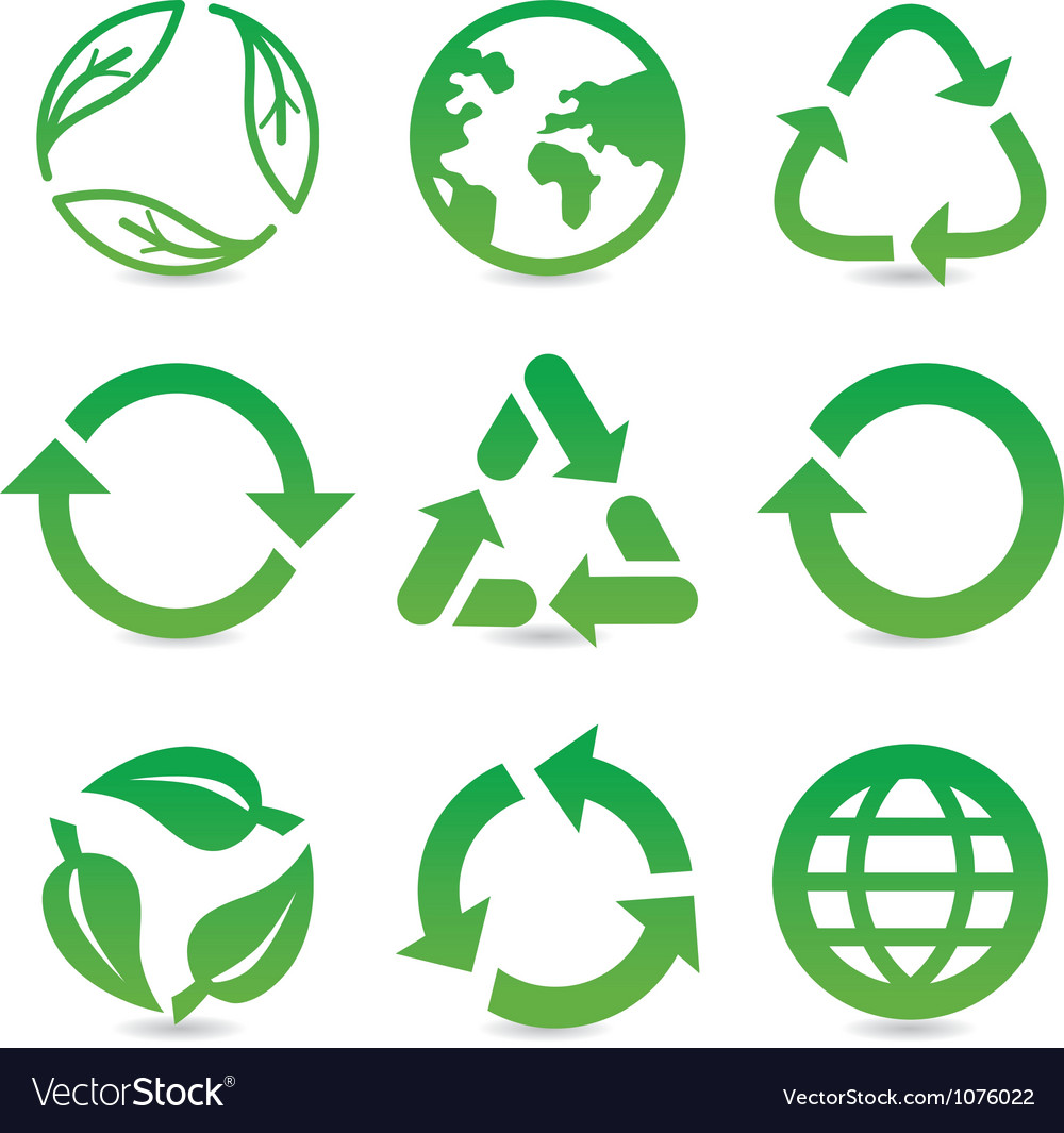Collection with recycle signs vector | Price: 1 Credit (USD $1)