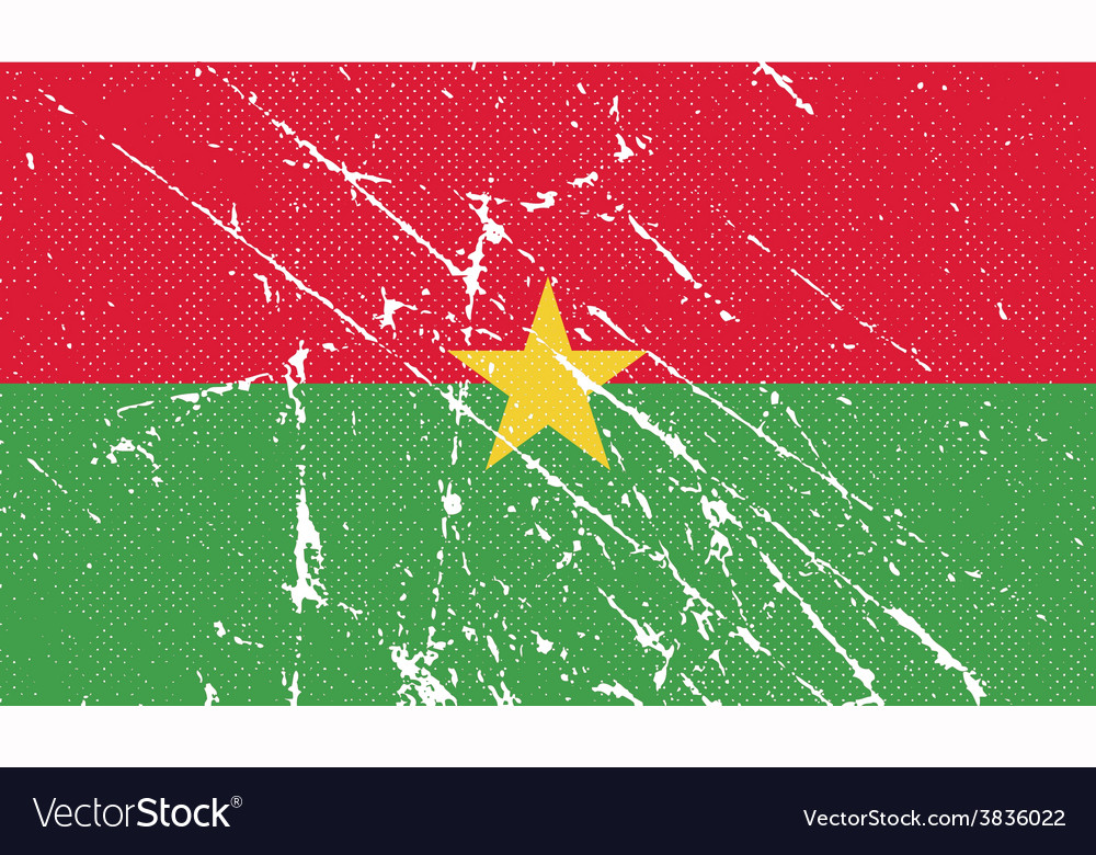 Flag of burkina faso with old texture vector   Price: 1 Credit (USD $1)
