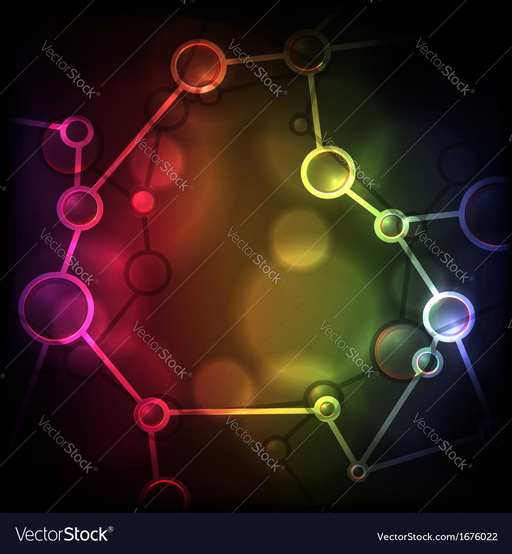 Neon molecule background vector | Price: 1 Credit (USD $1)