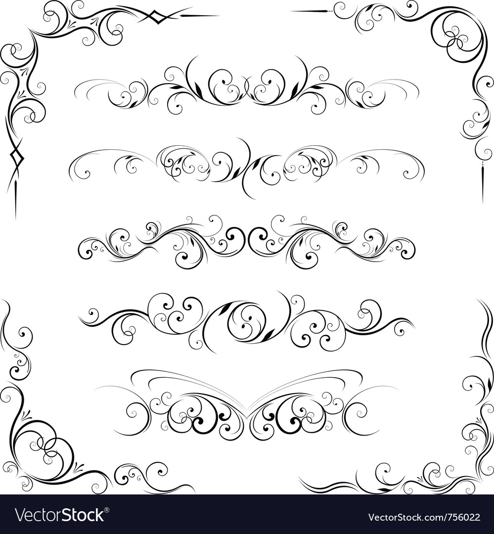Ornate corners and page dividers vector | Price: 1 Credit (USD $1)