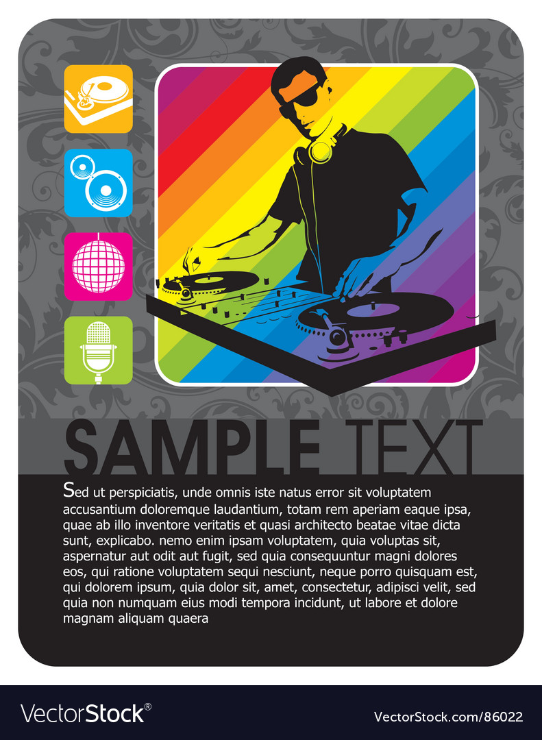 Party flayer vector | Price: 1 Credit (USD $1)