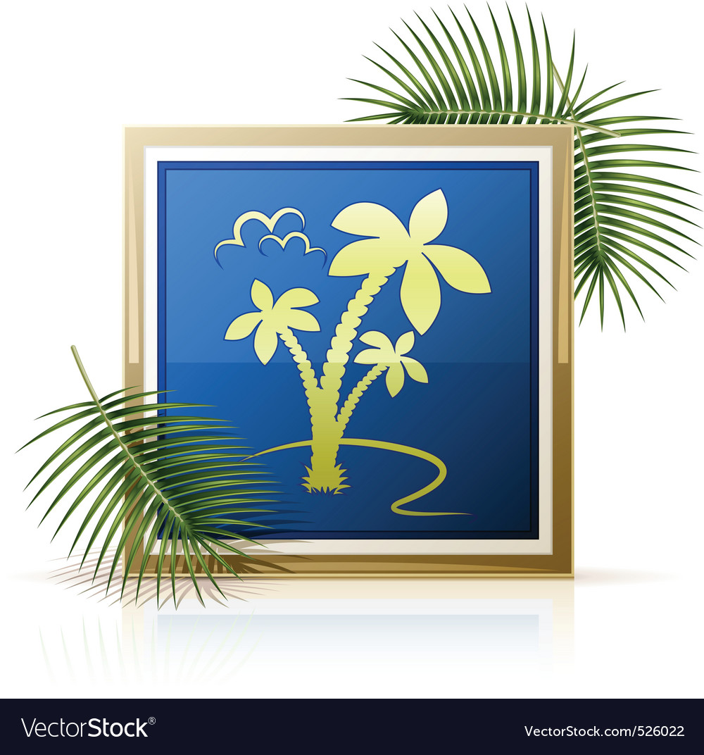 Picture tropic palm vector | Price: 1 Credit (USD $1)