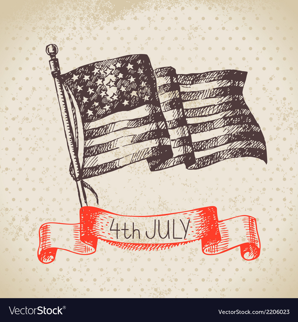 4th of july vintage background vector | Price: 1 Credit (USD $1)