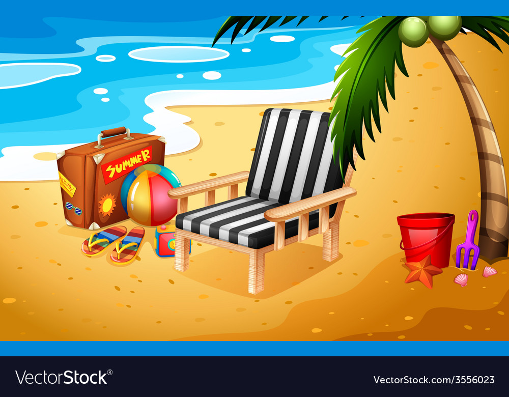 A summer at the beach vector | Price: 3 Credit (USD $3)