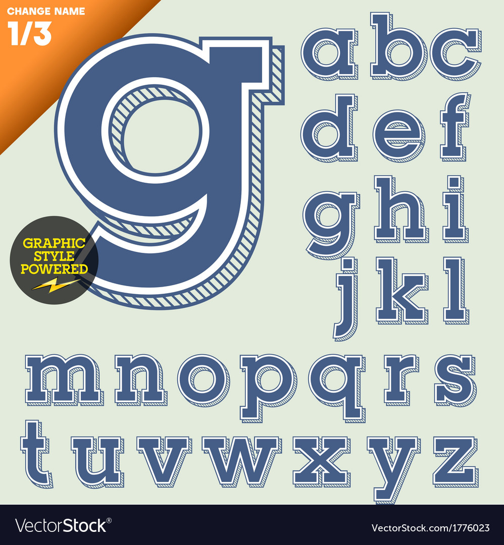 An old fashioned alphabet vector | Price: 1 Credit (USD $1)