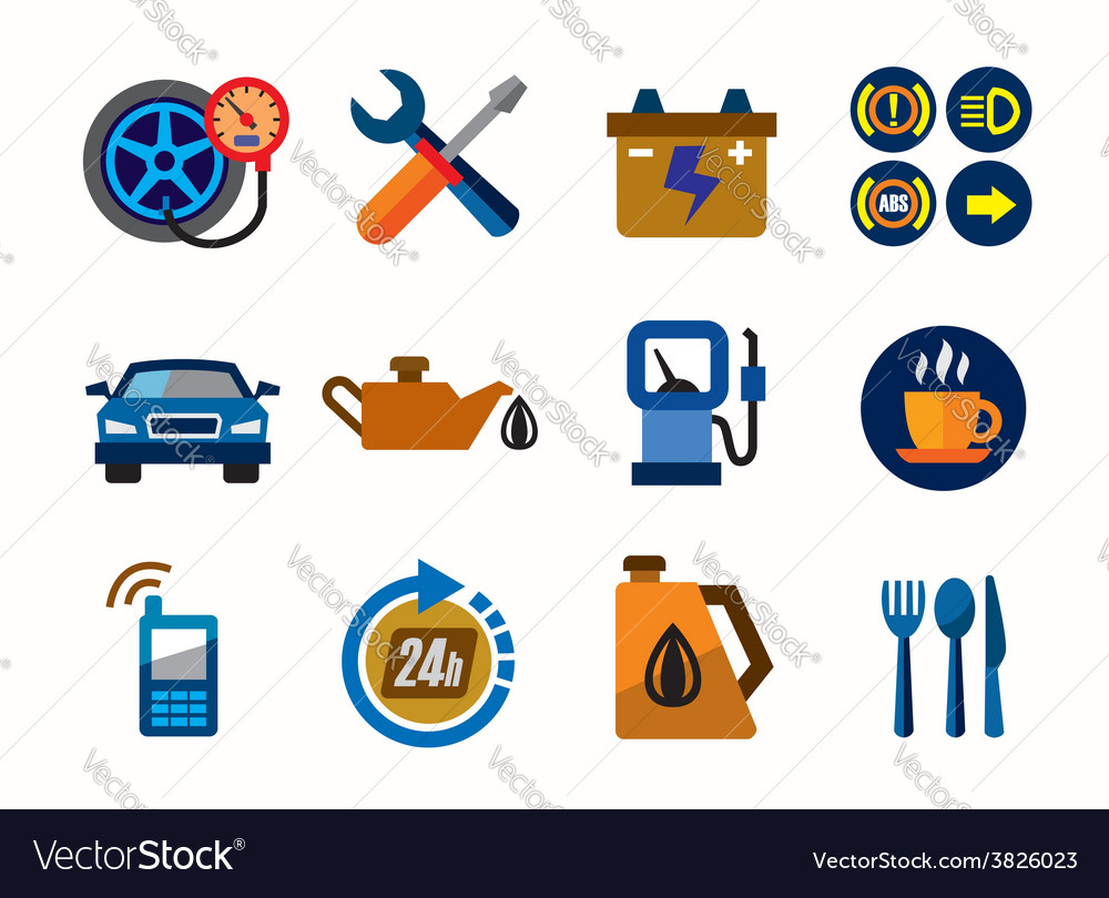 Auto icons vector   Price: 1 Credit (USD $1)