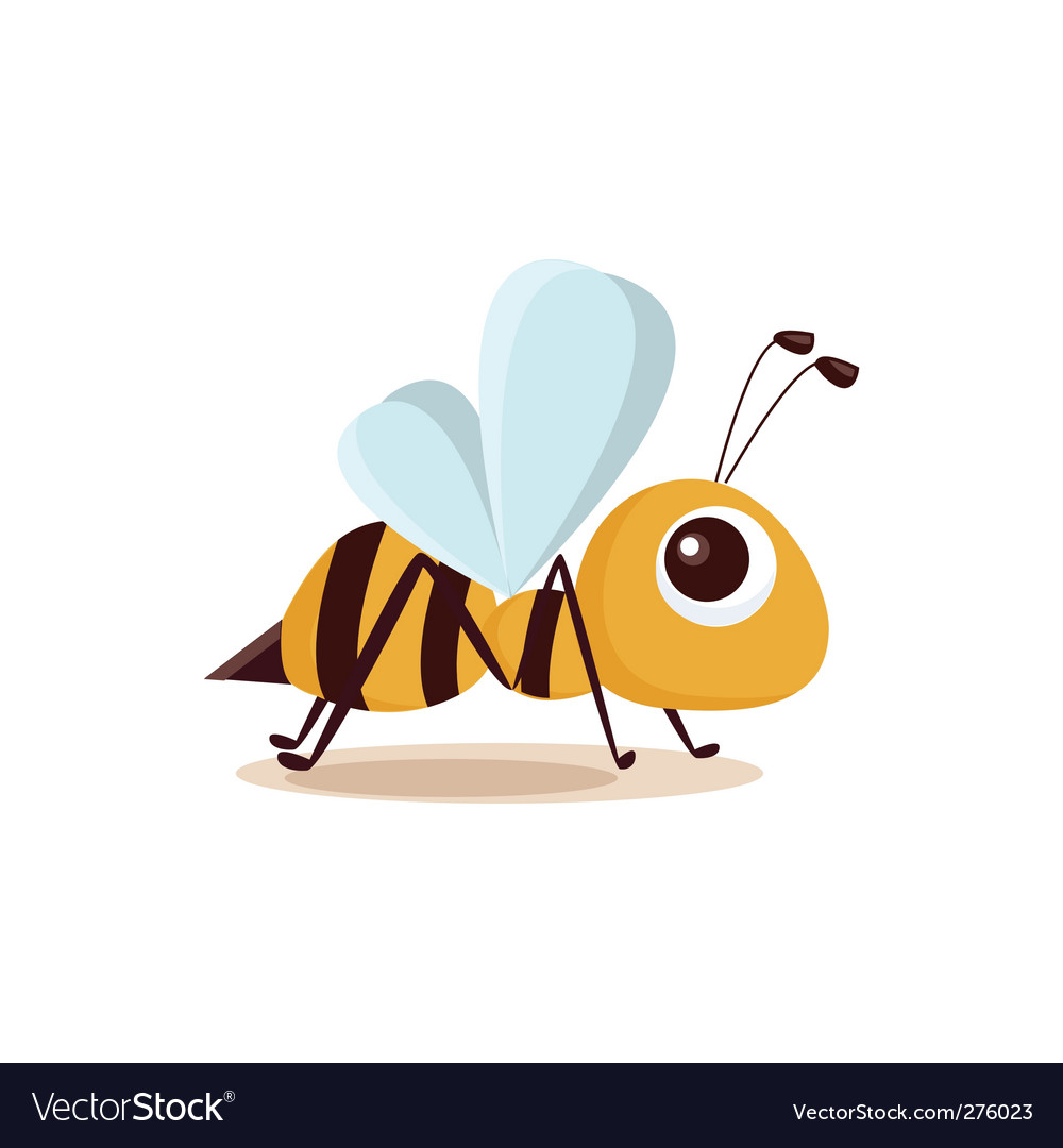 Bee isolated vector | Price: 1 Credit (USD $1)