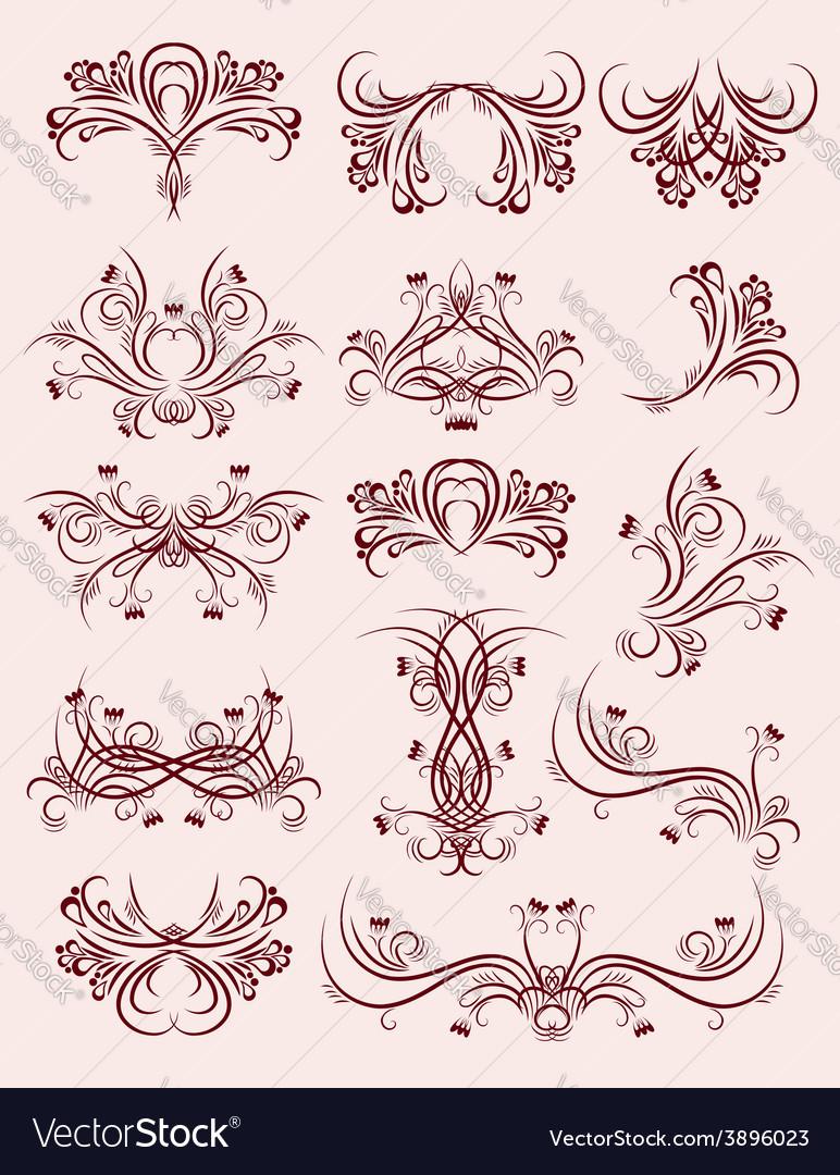 Decorative ornaments for design vector | Price: 1 Credit (USD $1)