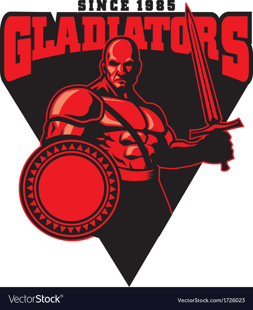 Gladiator mascot vector | Price: 1 Credit (USD $1)