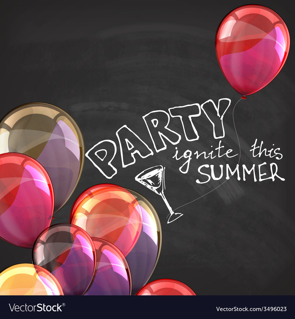 Ignite this summer party holiday with flying vector | Price: 1 Credit (USD $1)